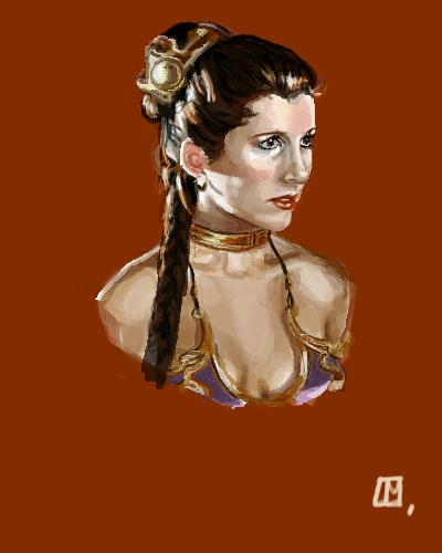 Cartoon: Leia (medium) by Laurie Mouret tagged leia,star,wars,carrie,fisher,