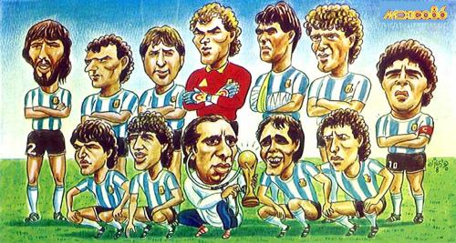 Cartoon: Argentina 1986 (medium) by javad alizadeh tagged argentina,maradona,