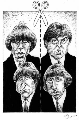 Cartoon: Dead and alive Beatles (medium) by javad alizadeh tagged beatles,