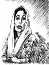 Cartoon: Bhutto victim of democracy (small) by javad alizadeh tagged benazir,bhutto,