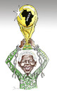 Cartoon: Mandela the real champion .... (small) by javad alizadeh tagged nelson mandela political prisoner world cup champion hero