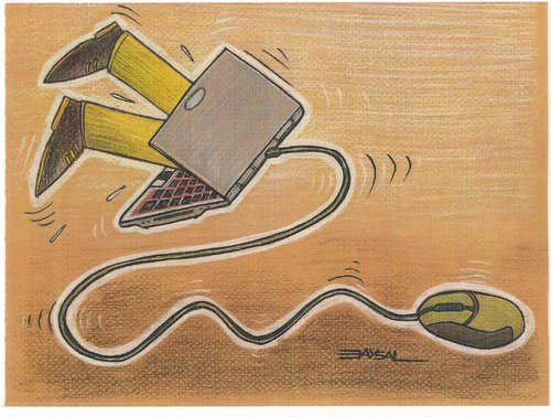 Cartoon: trap (medium) by ercan baysal tagged cartoons,computer,pc,humor,ulture,internet,graphic,fineart,fine,art,pencil,paint,coloring,job,good,fantasy,boa,image,picture,constructor,gulp,magazihandmade,greetings,favorite,daydream,cry,vision,create,link,digital,web,media,tv,nightmare,ilustration