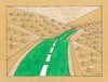 Cartoon: Green Way (small) by ercan baysal tagged green,way,road,tree,forest,root,roots,cartoon,illustration,humour,satire,dream,daydream,vision,idea,picture,handmade,ercanbaysal,turkey,türkiye