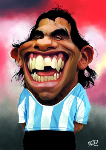 Cartoon: Carlos Tevez (medium) by jmborot tagged caricature,tevez,football,jmborot