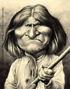 Cartoon: Geronimo (small) by jmborot tagged geronimo,apache,indians,caricature,jmborot