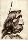 Cartoon: Red Cloud (small) by jmborot tagged red,cloud,sioux,indians,caricature,jmborot
