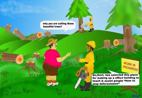 Cartoon Deforestation Pictures