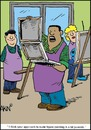 Cartoon: Looney Nude (small) by Tim Akin Ink tagged painting,teaching,immature,cartoon