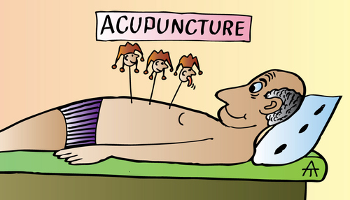 Cartoon: Acupuncture (medium) by Alexei Talimonov tagged acupuncture