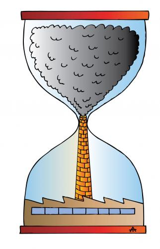Cartoon: As Time Goes By (medium) by Alexei Talimonov tagged air,pollution,climate,change,industry