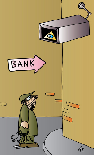 Cartoon: Bank (medium) by Alexei Talimonov tagged bank