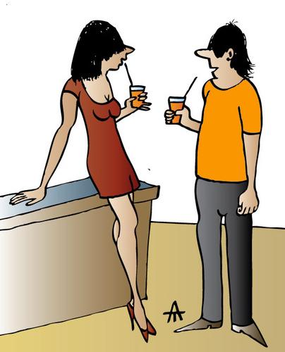 Cartoon Girl And Boy Love. Cartoon: Boy and Girl (medium)