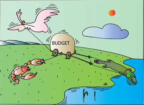 Cartoon: Budget (medium) by Alexei Talimonov tagged budget