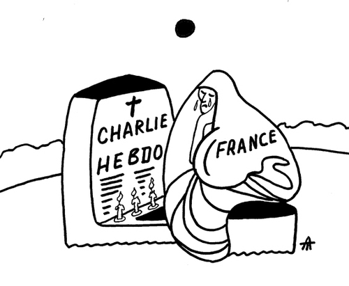 Cartoon: Charlie Hebdo (medium) by Alexei Talimonov tagged charlie,hebdo