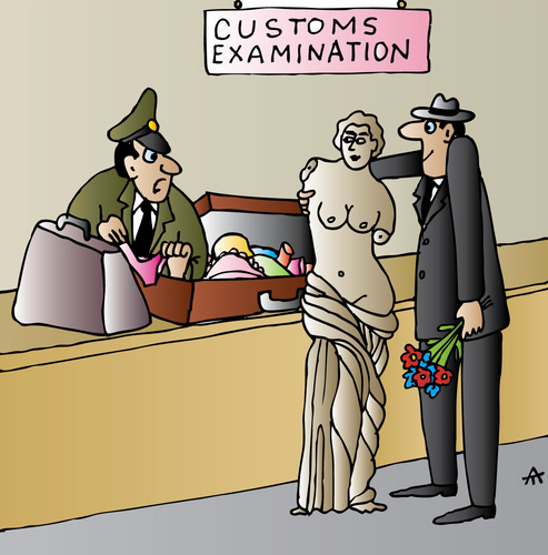 Cartoon: Customs (medium) by Alexei Talimonov tagged customs
