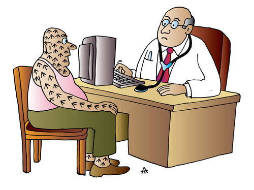 Cartoon Doctor And Patient Medium By Alexei Talimonov Tagged Paitient