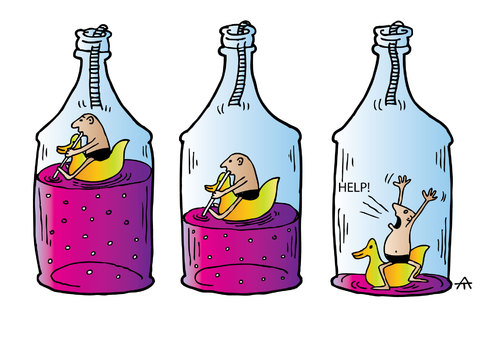 Cartoon: Drinking (medium) by Alexei Talimonov tagged drinking,vodka,alcohol
