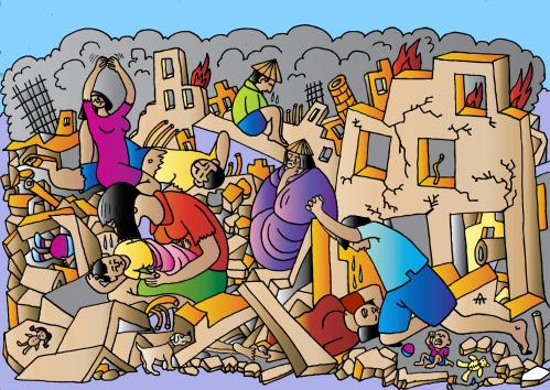 Earthquake Pictures Cartoon Cartoon Earthquake in China