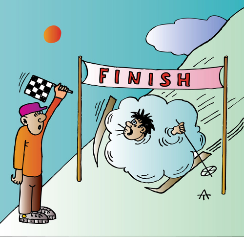 Cartoon: Finish (medium) by Alexei Talimonov tagged finish