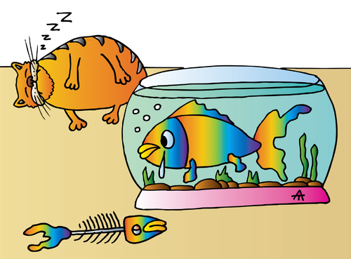 Cartoon: Fish (medium) by Alexei Talimonov tagged fish