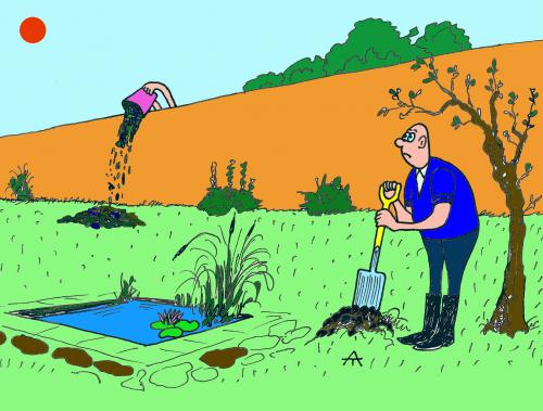 Cartoon Garden Blog Title