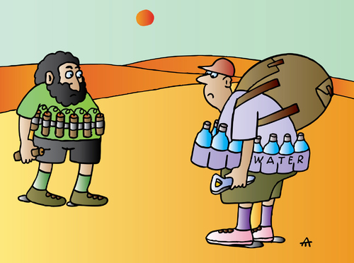 Cartoon: In Desert (medium) by Alexei Talimonov tagged desert,terror,water