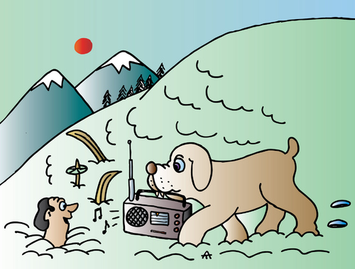 Cartoon: In The Mountains (medium) by Alexei Talimonov tagged mountains