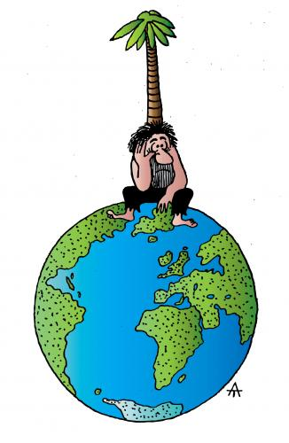 Cartoon: Island (medium) by Alexei Talimonov tagged nature,climate,change,ecology