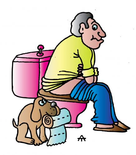 Man And Dog By Alexei Talimonov Philosophy Cartoon