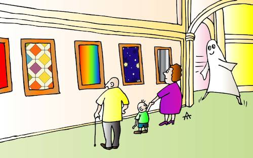 Cartoon: Museum (medium) by Alexei Talimonov tagged museum