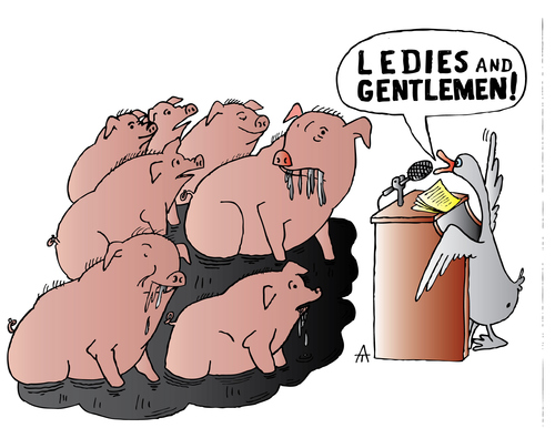 Cartoon: Pigs (medium) by Alexei Talimonov tagged pigs