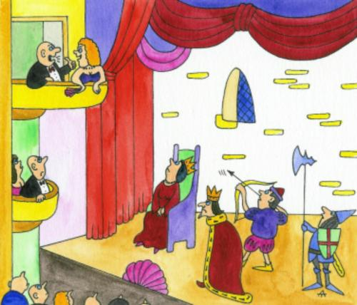 Cartoon: Really Theatre (medium) by Alexei Talimonov tagged theatre,actors