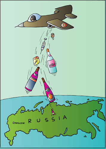 Cartoon: Russia (medium) by Alexei Talimonov tagged vodka,alcohol,drinking,russia
