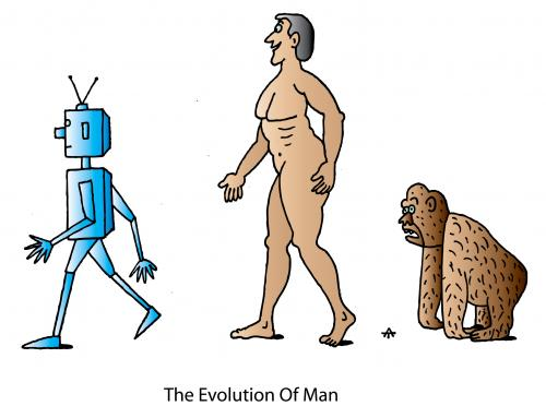 Cartoon: The Evolution Of Man (medium) by Alexei Talimonov tagged evolution,darwin
