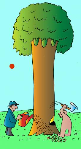 Cartoon: Tree Men (medium) by Alexei Talimonov tagged nature,