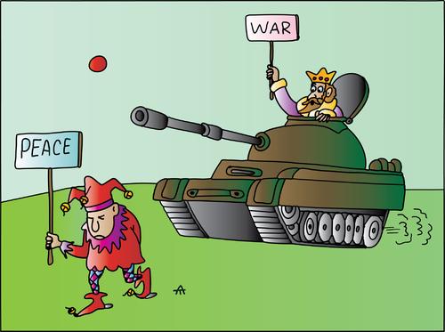 War and Peace By Alexei Talimonov | Politics Cartoon | TOONPOOL