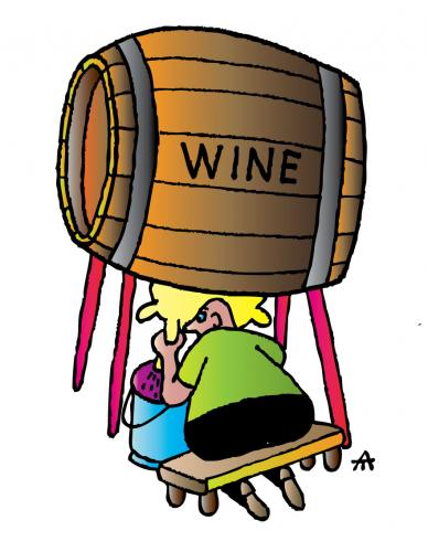Cartoon: Wine (medium) by Alexei Talimonov tagged wine,drinking,food