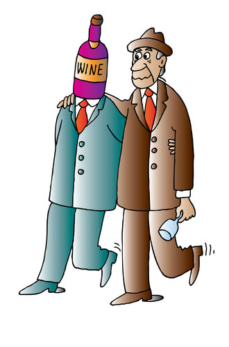 Cartoon: Wine (medium) by Alexei Talimonov tagged wine,drinking,alcohol