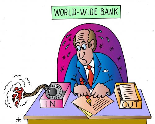 Cartoon: World Wide Bank (medium) by Alexei Talimonov tagged financial,crisis,
