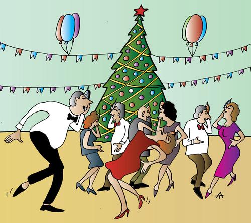 Christmas Party Images Cartoon.Xmas Party By Alexei Talimonov Religion Cartoon Toonpool