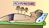 Cartoon: Acupuncture (small) by Alexei Talimonov tagged acupuncture