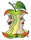 Cartoon: Adam and Eve (small) by Alexei Talimonov tagged adam,eve
