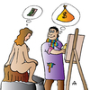 Cartoon: Artist and Model (small) by Alexei Talimonov tagged artist model
