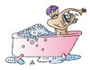 Cartoon: Bath (small) by Alexei Talimonov tagged bath