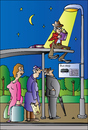 Cartoon: Bus Stop (small) by Alexei Talimonov tagged book,fair,books,literature,author