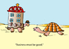 Cartoon: Business (small) by Alexei Talimonov tagged business,snails