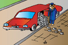 Cartoon: Cat and car (small) by Alexei Talimonov tagged cat,car