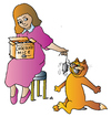 Cartoon: Cat and Girl (small) by Alexei Talimonov tagged cat,girl