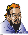 Cartoon: Confucius (small) by Alexei Talimonov tagged confucius
