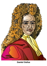 Cartoon: Daniel Defoe (small) by Alexei Talimonov tagged defoe